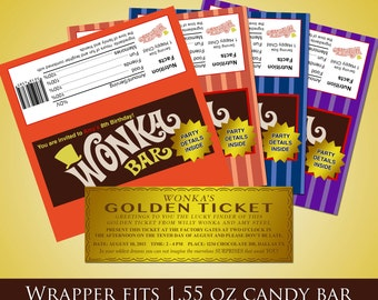 Willy Wonka Party Invites