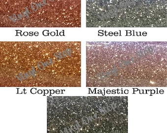 NEW COLORS Siser Glitter Heat Transfer Vinyl Sheets, Mix and Match