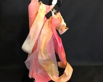 Japanese washi paper doll , heavenly nymph, Washi Ningyo