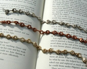 Bar Bell Bracelet - Copper, Sterling Silver, Gold Filled 30+