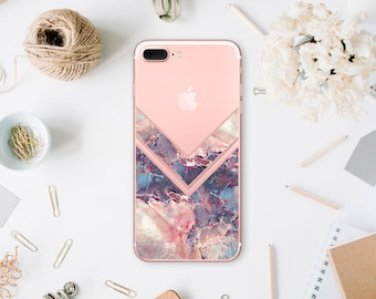 Marble iPhone 8 Case iPhone 7 Case iPhone X Case iPhone 8 Plus Case iPhone 7 Plus Case iPhone 6 Plus Case Gift For Her Clear Case WA1187