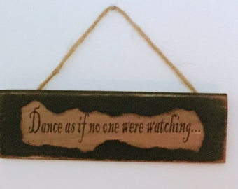 """Hand-made Primitive Country Rustic Home Decor Wood / Twine Hanger Sign 8"""" X 2 3/8 """""""