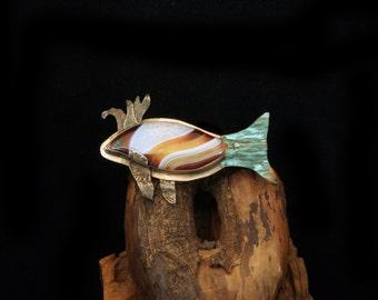 Funny Fish Brooch