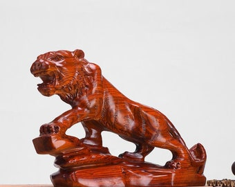 Rosewood Tiger Decoration Home Decoration Office Decoration Hand-carved Gift