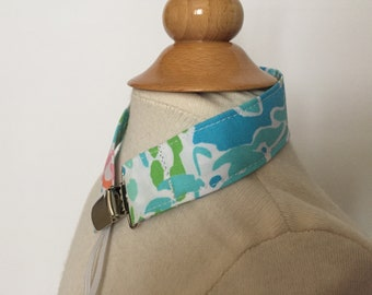 turquoise let's cha cha pacifier clip/toy strap ~ universal fit ~ lilly pulitzer