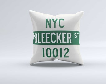 Personalized NYC Street Sign Pillow (includes Insert)