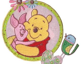Disney Winnie The Pooh Iron-On Applique, Piglet & Pooh #6739