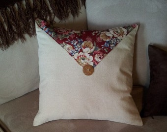 """Pillow Cover - 16"""" x 16"""" Country Button"""