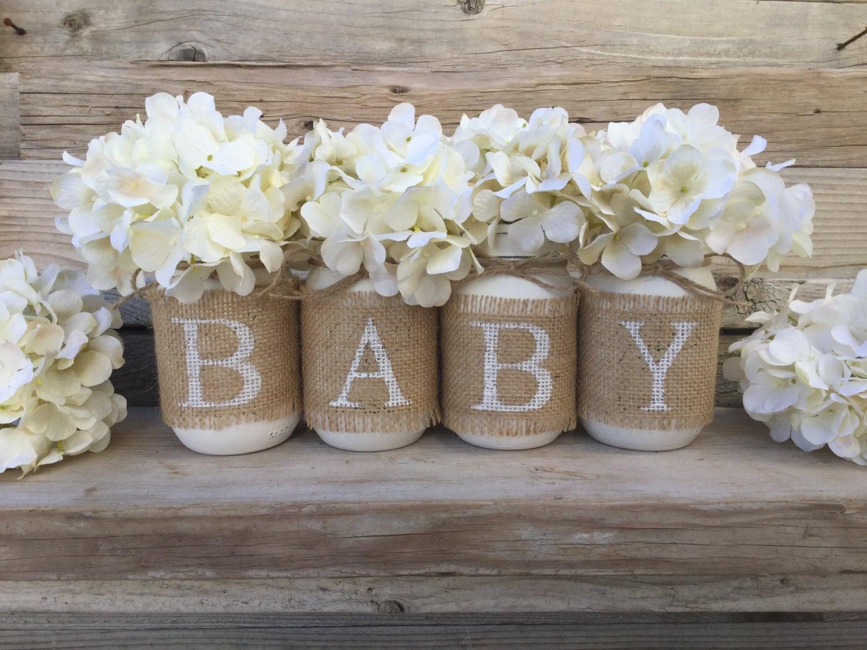 Baby Shower Decor Nursery Decor Rustic Baby Shower Burlap