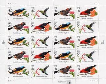 1998 Tropical Birds US Postage Stamps (20) -Mint-Unused- Scott 3222-3225 - Full Sheet