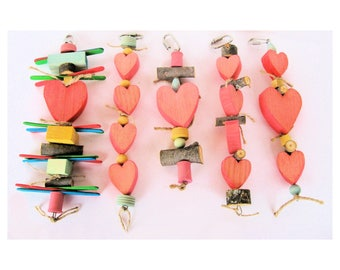 Bird Toy Heart Collection / Bird Toy / Bird Toys / Parrot Toy / Parrot Toys / Heart Bird Toys / parrot toy with hearts