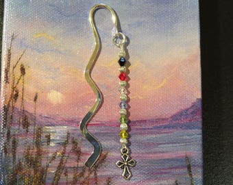 Salvation bookmark religious gift sunday school teacher gift salvation bookmark christian gift sunday school teacher gift easter basket wavy silvertone bookmark with crystals with negle Image collections