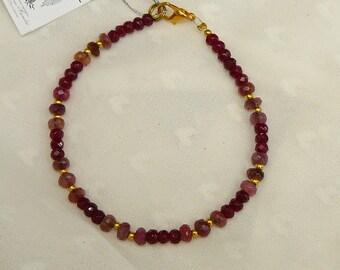 Garnet and tourmaline bracelet