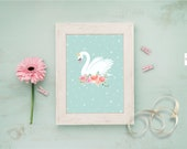 Swan mint stars & flowers...