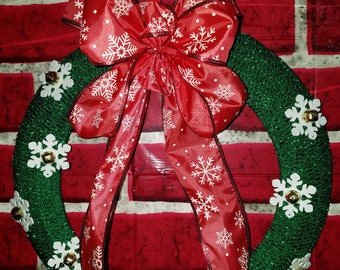 Green Snowflake Wreath
