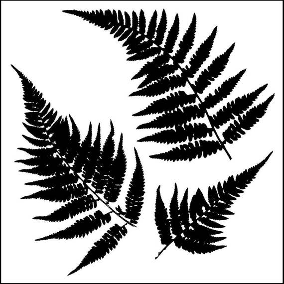 "Mini Fern 6 x 6"" Stencil /  template a Jaime Echt design perfect for mixed media, scrapbooking, journaling and so much more"