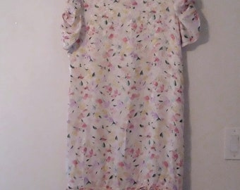 VTG 1980s Silk Floral Dress Maggy London by Jeannene Booher