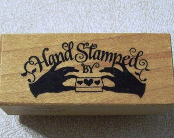 PSX Wood Mounted Rubber Stamp -Hand Stamped- C-1141