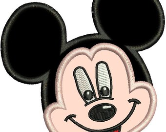 Applique Mickey Mouse Face Machine Embroidery Designs 4X4 and 5X7 Included - Instant Download Sale