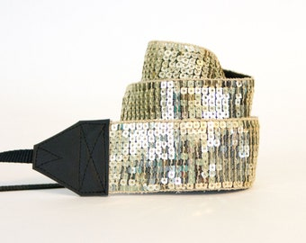 Camera Strap - Photographer Gift - Gifts for Mom - Graduation Gift - Camera Accessories - Gold Shine