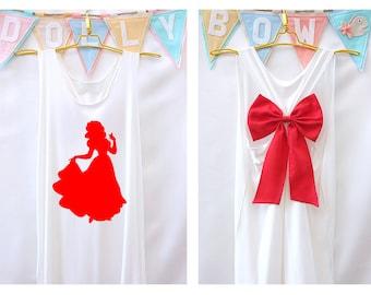 Snow white Disney Princess Tank Premium with Bow : Workout Shirt - Keep Calm Shirt - Tank Top - Bow Shirt - Razor Back Tank - Disney shirt
