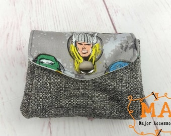 Character Thor Mini Accordion Coin Purse Wallet