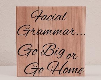Facial Grammar Sign / Shelf Sitter, ASL Sign, Sign Language Decor, Deaf Wall Art / Shelf Art, American Sign Language Sign, Deaf Culture Sign