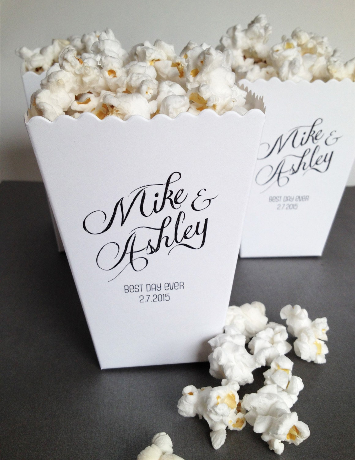 Mini Popcorn Box Wedding Favor Bar Custom Printed Mini