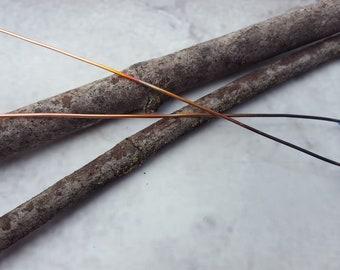 Enamel Headpins - Copper Headpins - Copper Findings - Handmade Copper Headpins - Handmade Copper Findings - Enamel Components - Head Pins