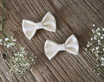 TERESA Hair Ribbons COMBO-Mini//White