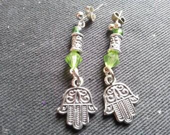 wonderful Hamsa, Hamesh, hand of protection/fatima earrings