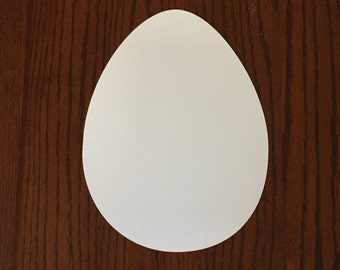 "10 Large Easter Egg Cut Outs - Kids Easter Crafts/Activity - Blank Egg Cut Outs (8"" wide)"