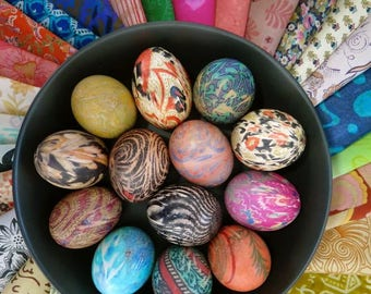25 silk pieces for Easter egg Dyeing, Easter eggs, Craft Silk Pieces, Easter egg dye set