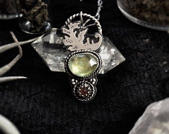 Triumph of Love Necklace with Prehnite and Amethyst
