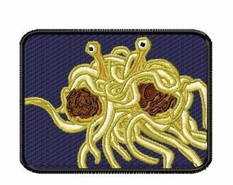 Flying Spaghetti Monster Iron on Patch