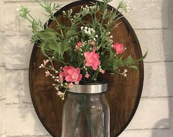 Vase- wall mason jar