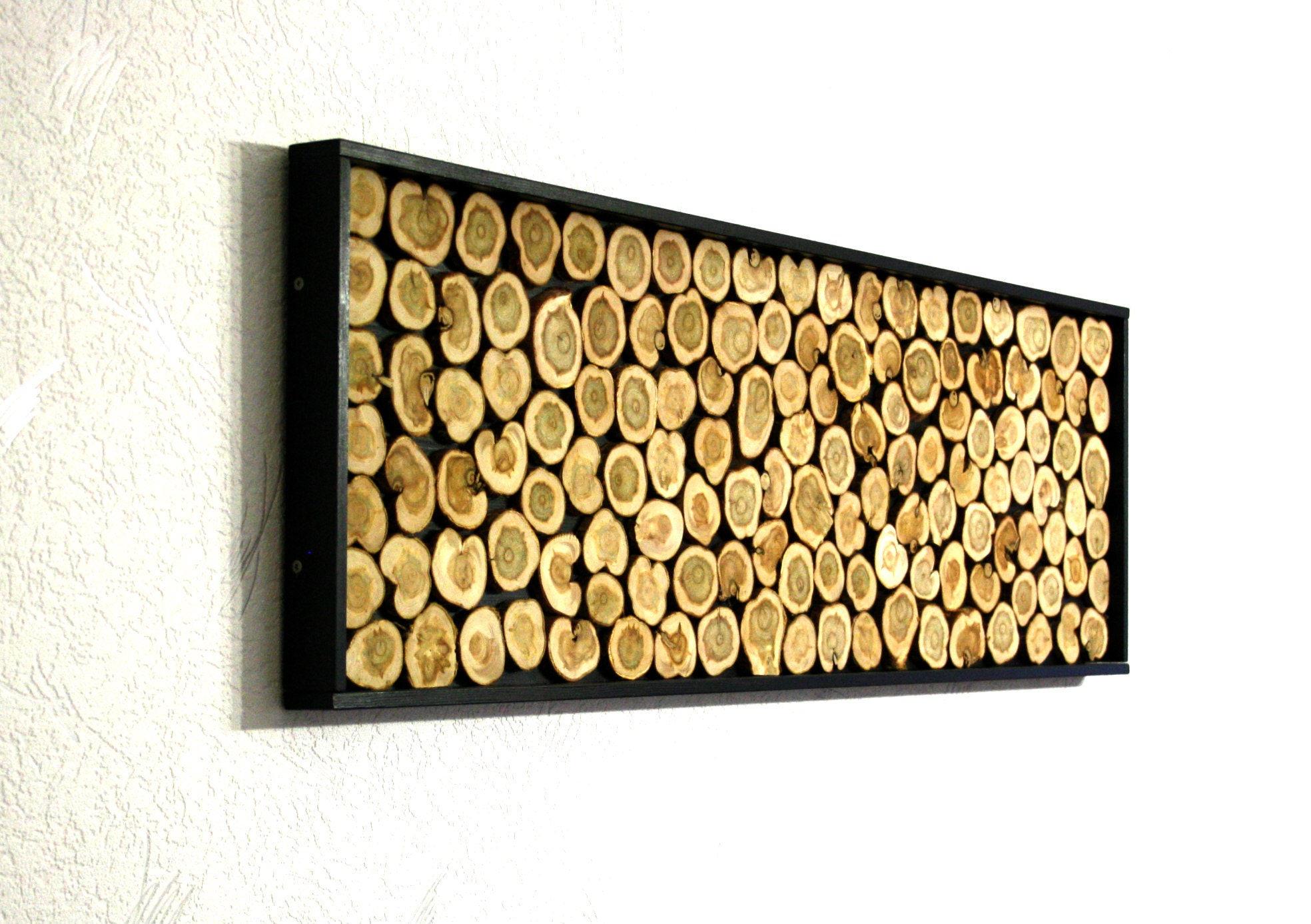 Decorative Wall Panel. Wood Slices Wall Art. Juniper Wood