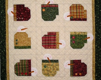 Who's Got The Mitten Quilt Pattern With Free Hillcreek Buttons & Free Shipping