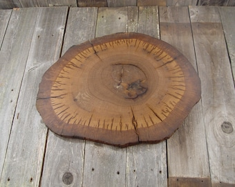 Large Tree Slice, 24x19x1 thick, Sanded + Finished, wedding decor, wedding cake base, cake stand, rustic centerpiece, wood for table