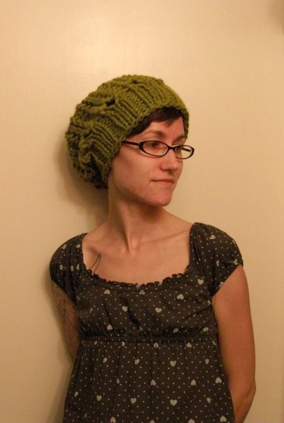 KNITTING PATTERN // PDF instant download // Super bulky yarn hat // Cordova