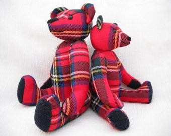Scottish Tweed Bear