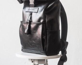 Mens backpack, laptop backpack, womens backpack, hipster backpack, leather backpack purse, travel backpack, roll top backpack, backpack men