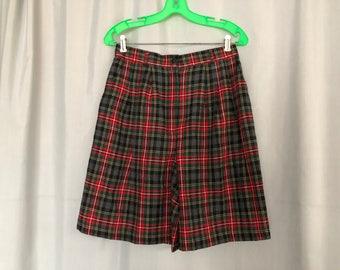Plaid Shorts Vintage Karen Scott Women's size 10