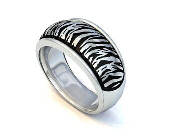 Safari Collection Tiger Domed Ring