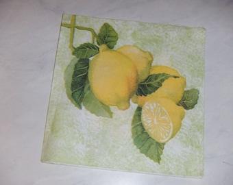 """Pretty NAPKIN pattern """"Lemons"""""""