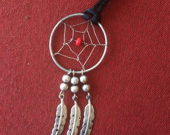Vintage dreamcatcher necklace! Long necklace from the 90s, SHIPS IMMEDIATELY from USA!