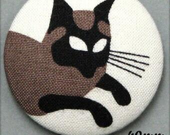 -Cat - fabric covered button cat Mistigri - (40-57)