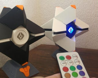 Destiny Ghost - Destiny Ghost Replica - Multicolor Led - Remote control - Stand included- Gamertag customized- Full Mounted - Destiny 2