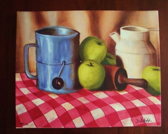 Canvas Giclée Kitchen Still Life with Apples