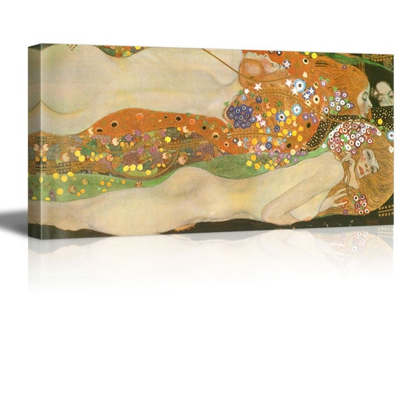 Water Serpents Ii Water Snakes by Klimt Giclee Canvas Prints